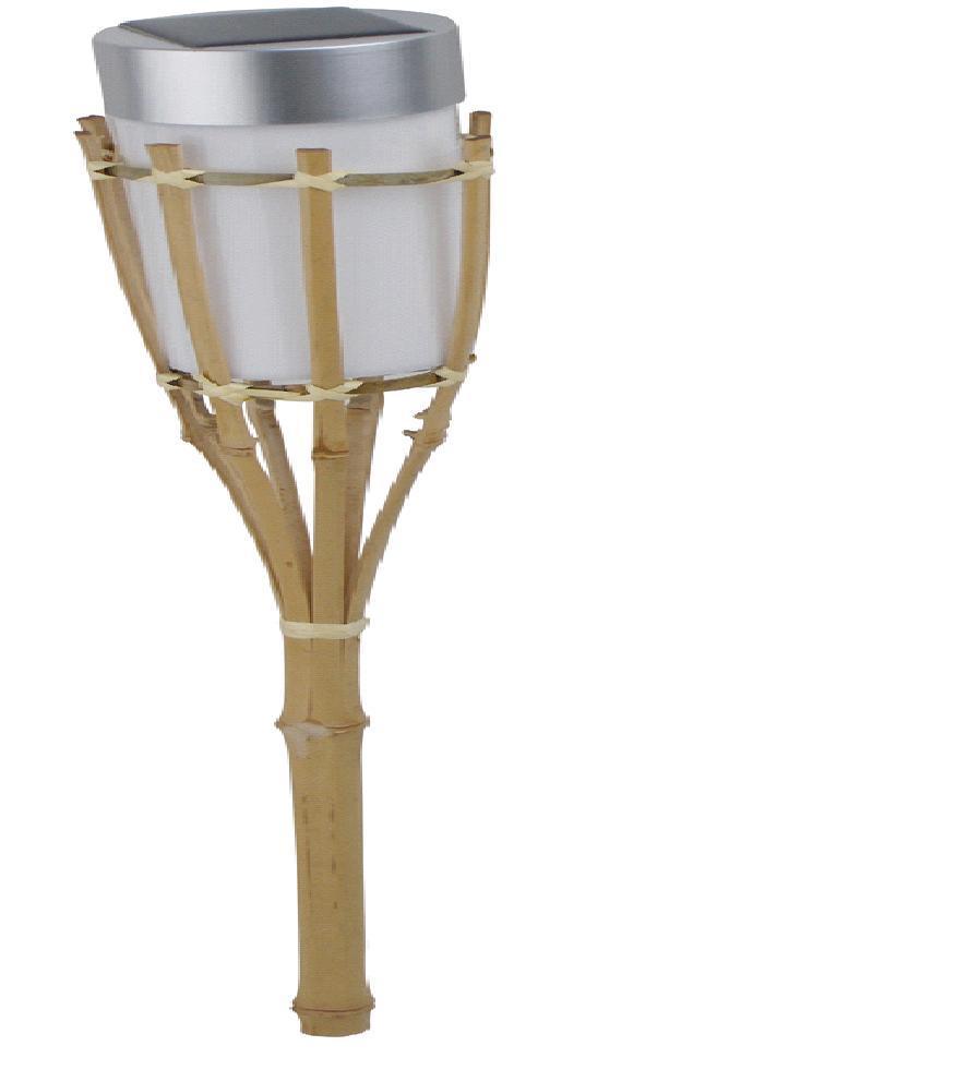 Antorcha de bamb con la luz solar del jard n del acero for Antorcha para jardin