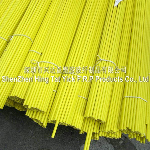 Varilla de fibra de vidrio amarillo usada en muestras de - Varillas fibra de vidrio ...