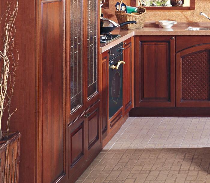 La cuisine en bois de meubles de cuisine de modèle européen à la ...