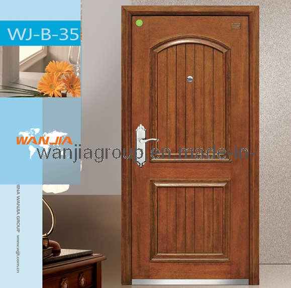 Puerta exterior acero de madera wj b 35 puerta for Puerta de madera exterior usada
