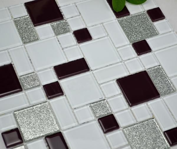 Azulejos de mosaico de cristal cuadrados de las encimeras - Azulejos de cristal ...
