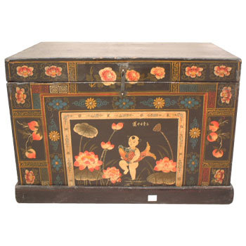 Muebles antiguos chinos tronco pintado negro muebles for Muebles antiguos chinos