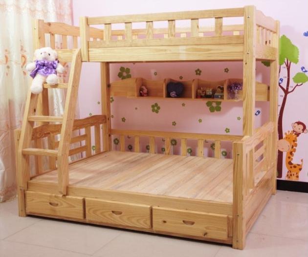Foto de de madera maciza de litera simple litera cama para - Literas de madera maciza ...
