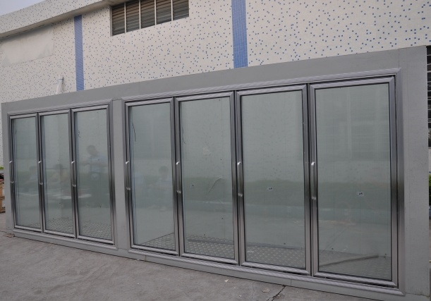Porte en verre pour la chambre froide porte en verre pour for Panneau chambre froide