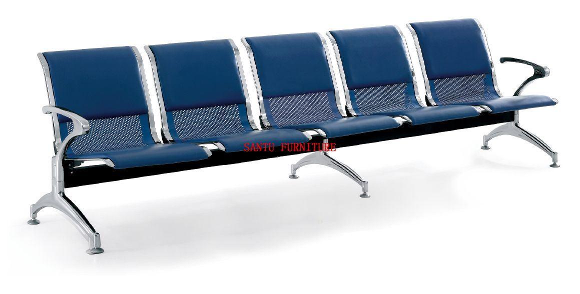 Silla que espera del hospital 5 asientos cuero de la pu for Sillas para hospital