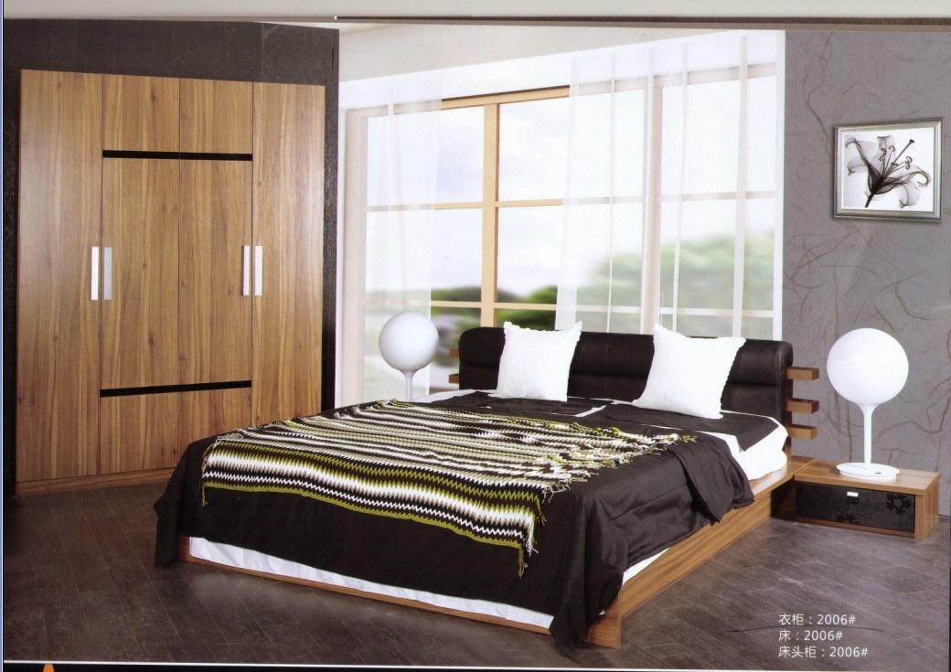 Ensemble de chambre coucher en bois de noix moderne htm for Commande chambre a coucher