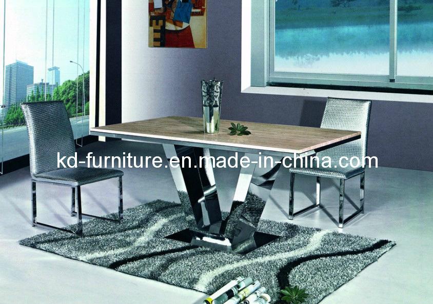 Neoklassiek meubilair de de marmeren eettafel lijst van het meubilair van de luxe basis van de v - Meubilair van de ingang spiegel ...
