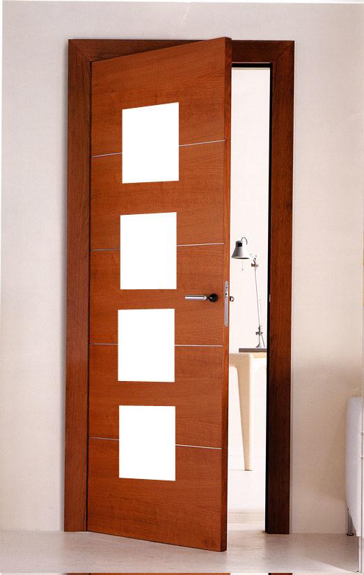 Puertas De Baño Modernas:Foto de Modernas puertas de baño de madera con temporizador Veneer en