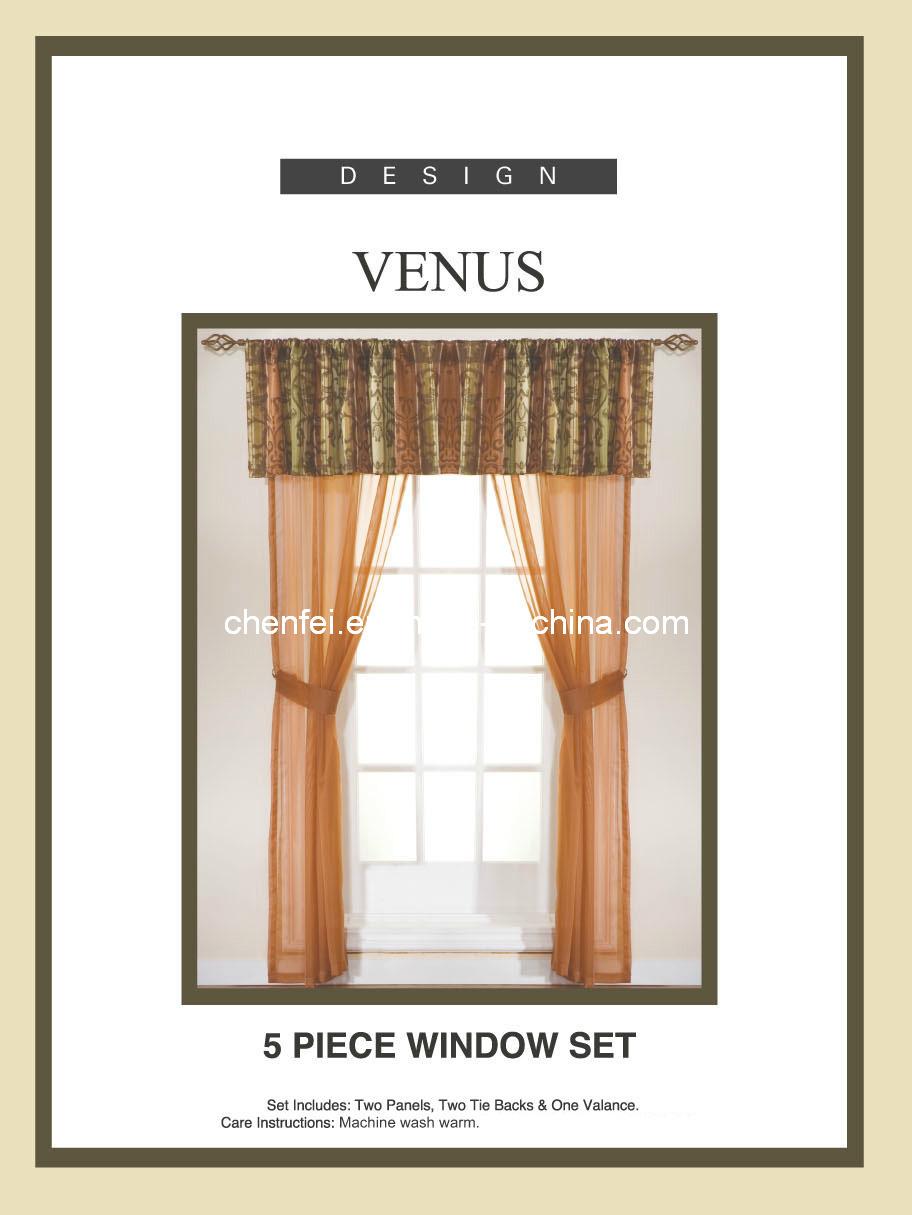 5pcs fij la cortina de ventana decorativa de la gasa los for Partes de una persiana