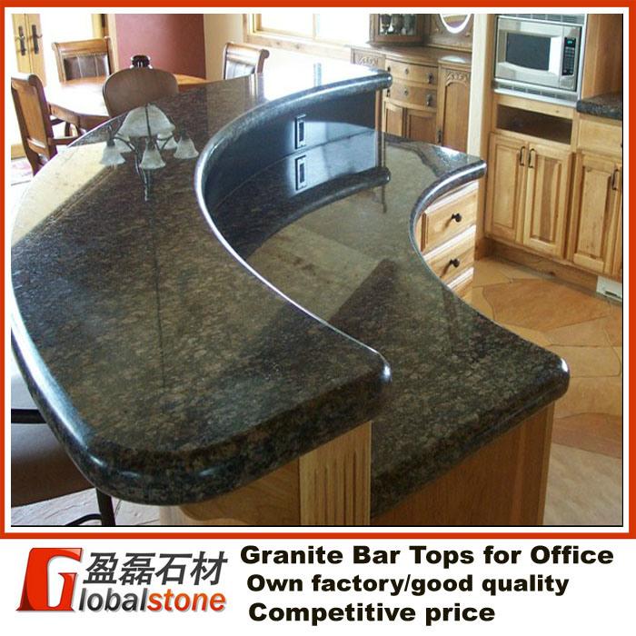 Tapas curvadas de la barra del granito para la oficina for Barra de granito para cocina precio