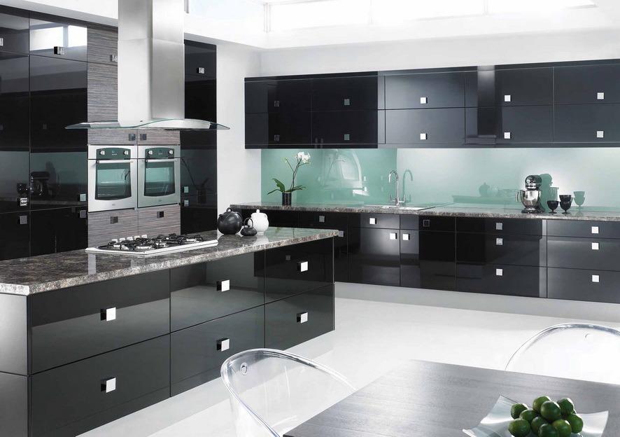 Cucina Sander Nero Lucido: Cucine moderne e classiche su misura al ...