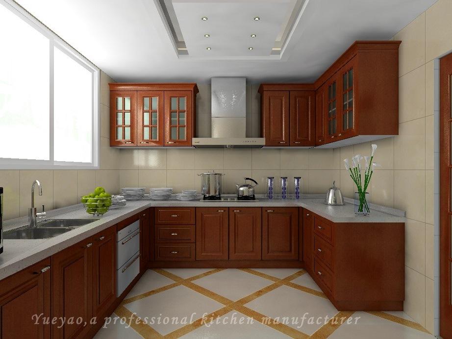 Foto de Armário de cozinha de madeira da porta americana