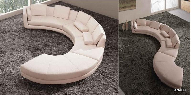 De ronde bank van de hoek van het leer van de vorm al118 de ronde bank van de hoek van het - Sofa van de hoek uitstekende ...