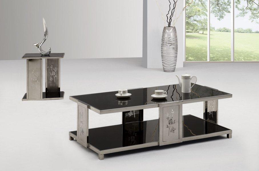 Mesa de centro de cristal moderna ctm 708 mesa de for Mesas modernas de cristal