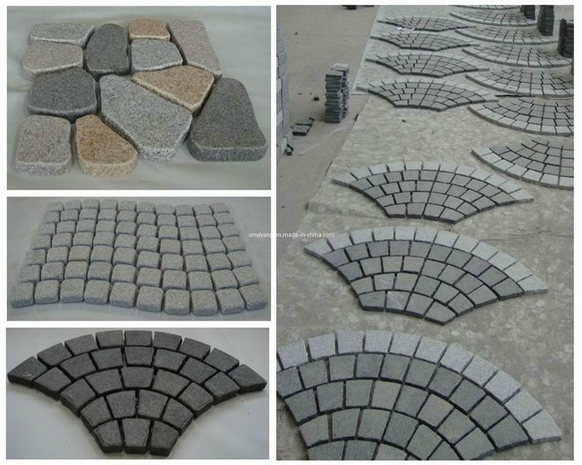 Pietra per lastricati del granito scale pietra del ciottolo paracarro cubestone pietra per - Granito per scale ...