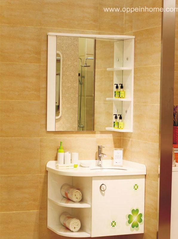 Armário de canto de Hite da laca para o banheiro (OP1101282) –Armário de ca -> Armario De Banheiro De Canto Com Espelho