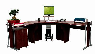 bureau en bois d 39 ordinateur de meuble coin f 102 bureau. Black Bedroom Furniture Sets. Home Design Ideas