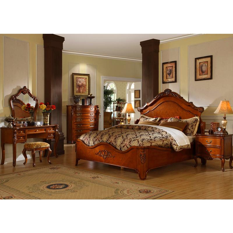 Muebles de madera antiguos del dormitorio muebles cl sicos - Dormitorio de madera ...