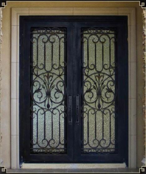 Puertas de entrada cuadradas del hierro labrado sen 007 for Puertas de entrada de hierro
