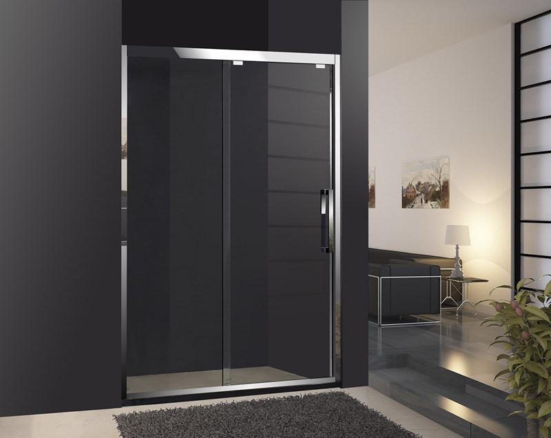 Corredera para duchas puerta de vidrio templado de for Puertas de cristal para duchas