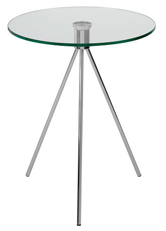 강철 금속 유리제 삼각 다리 측 구석 작은 테이블에사진 kr.Made-in ...