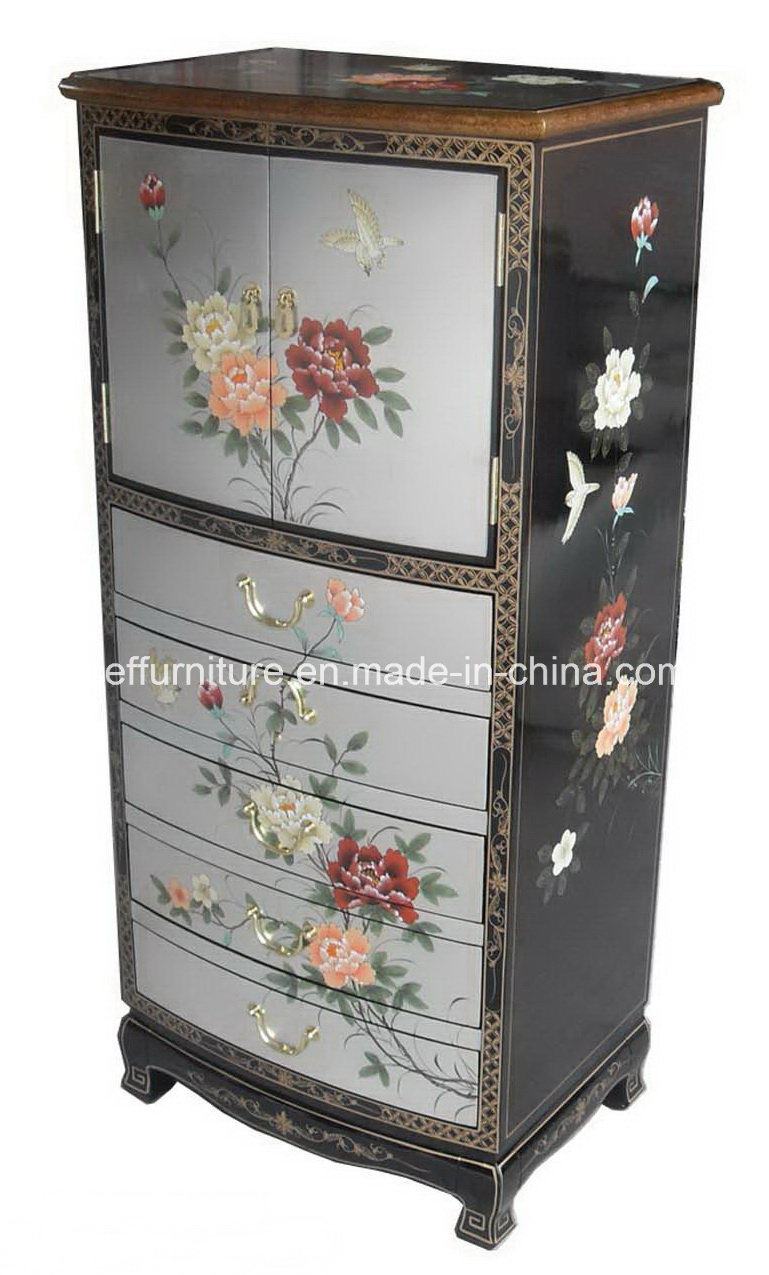 Module oriental peint à la main d'argent de laque de meubles de ...