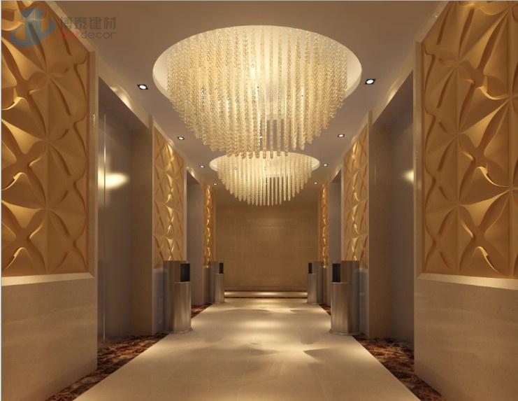 Het behang van het bamboe van de decoratie van het hotel van de slaapkamer het behang van het - Decoratie van het interieur ...