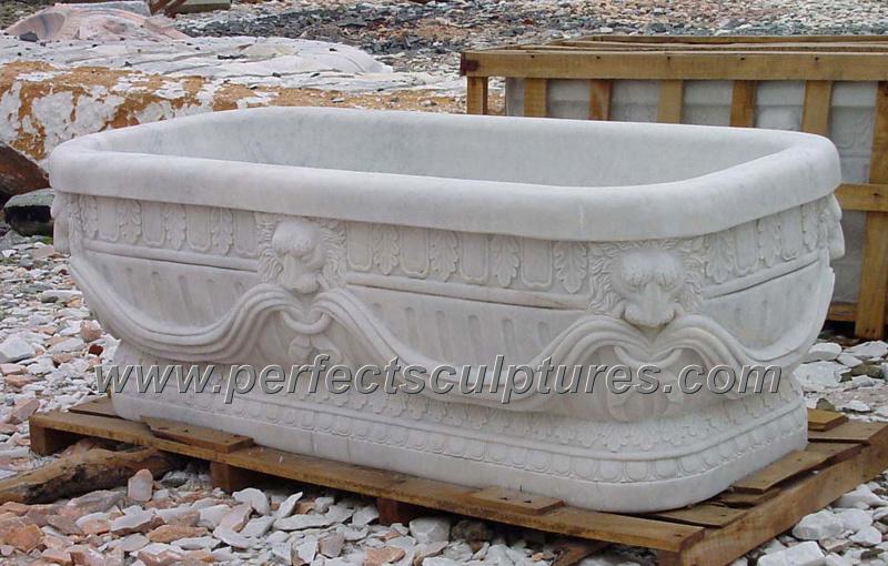 vasca di bagno classica antica della stanza da bagno con granito di marmo di pietra qbn066