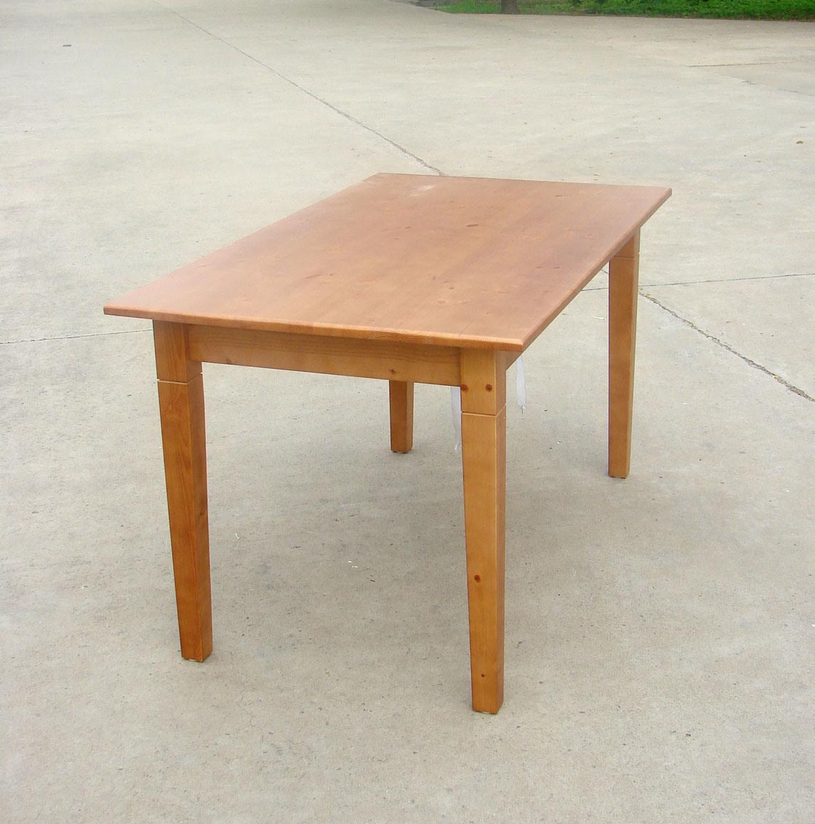 나무로 되는 식탁 소나무 테이블 단단한 나무 테이블 (H-H033 ...