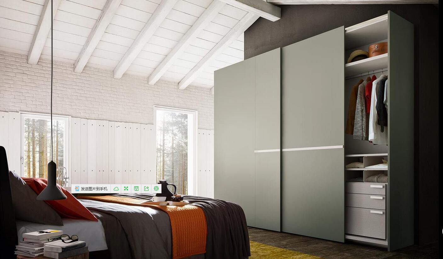 Meubles en bois de chambre à coucher de mélamine modulaire moderne ...
