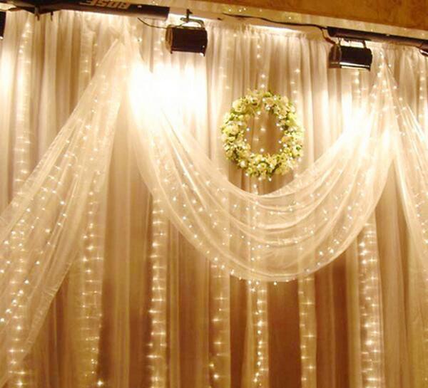D coration ext rieure de lumi re de rideau en del for Lumiere decorative exterieure