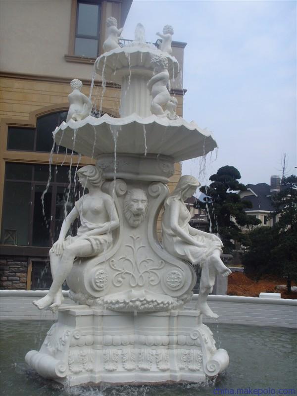 Fuente de agua de m rmol blanca para el jard n fuente de - Fuentes de marmol para jardin ...