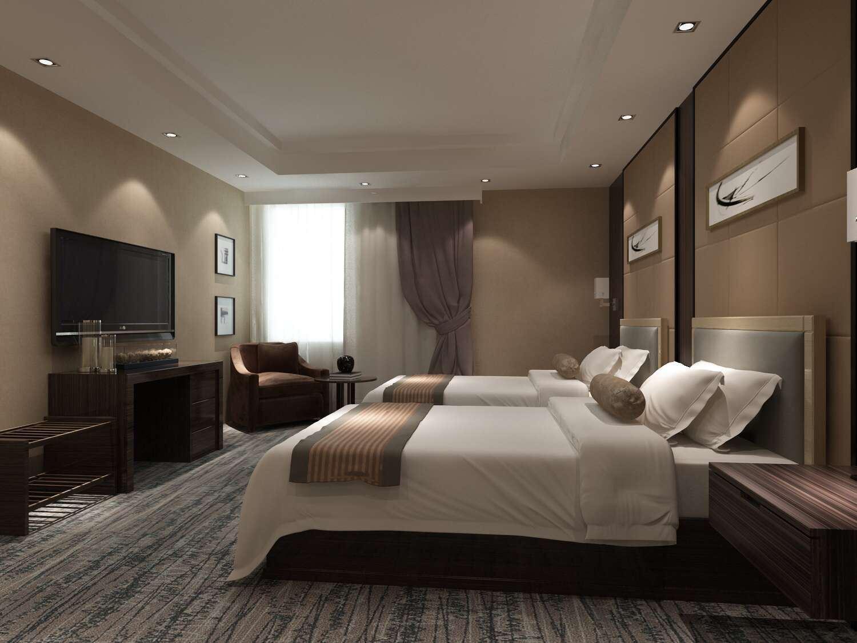 Meubles d'hôtel doubles meubles de luxe de chambre à