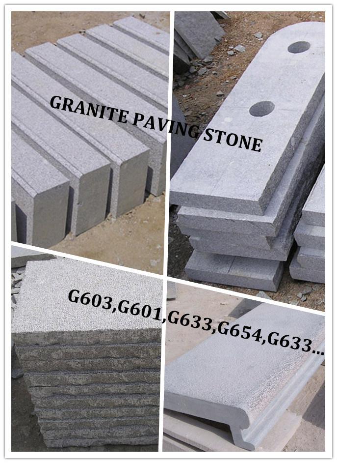 Piedra del bordillo de la piedra del granito de la for Piedra para granito