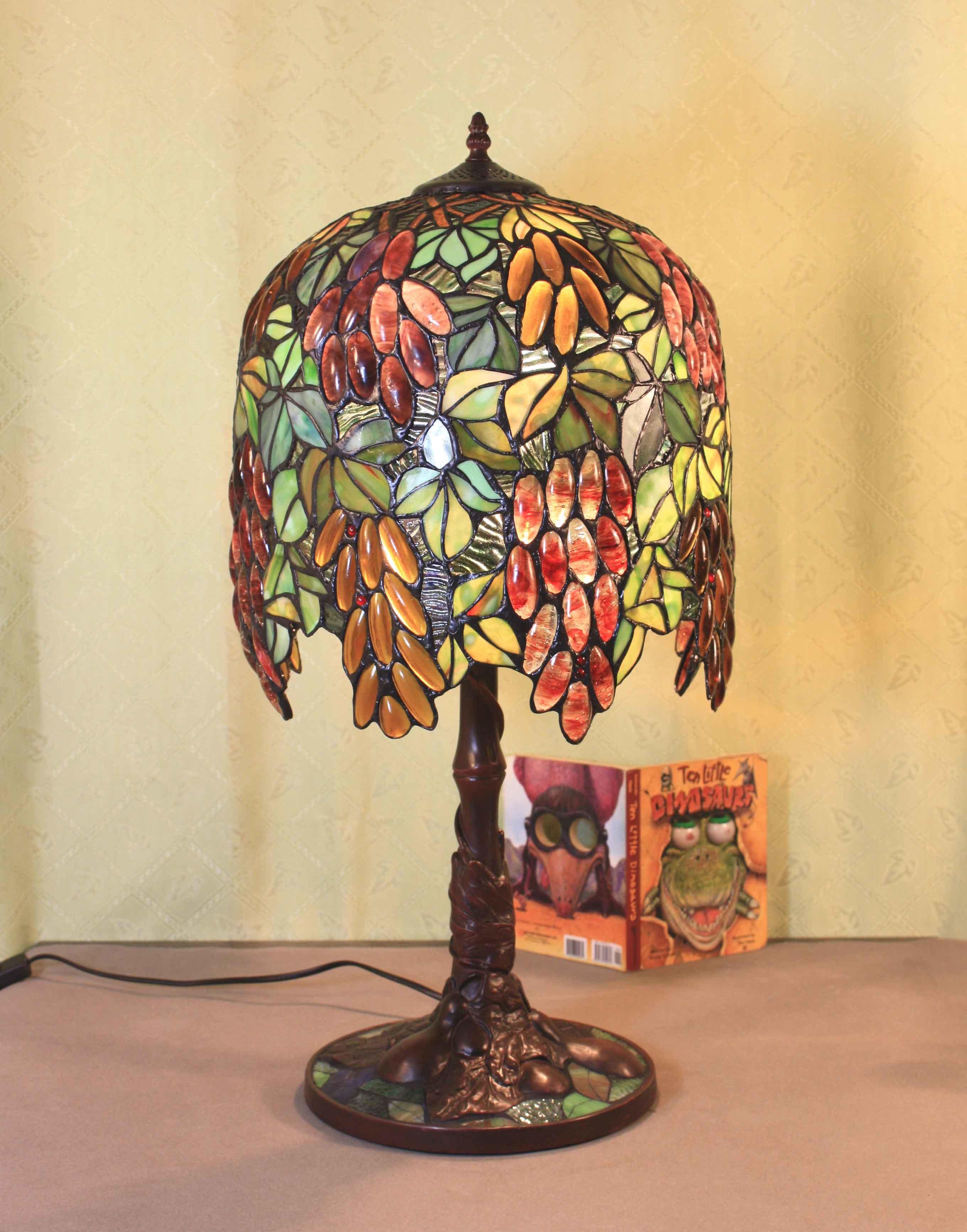 Foto de tiffany lampara la tabla de la serie a2 en es made for Lamparas de mesa tiffany