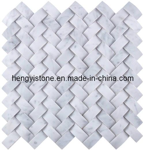 Mosaico de m rmol blanco de piedra azulejo patr n para la - Marmol blanco precio ...