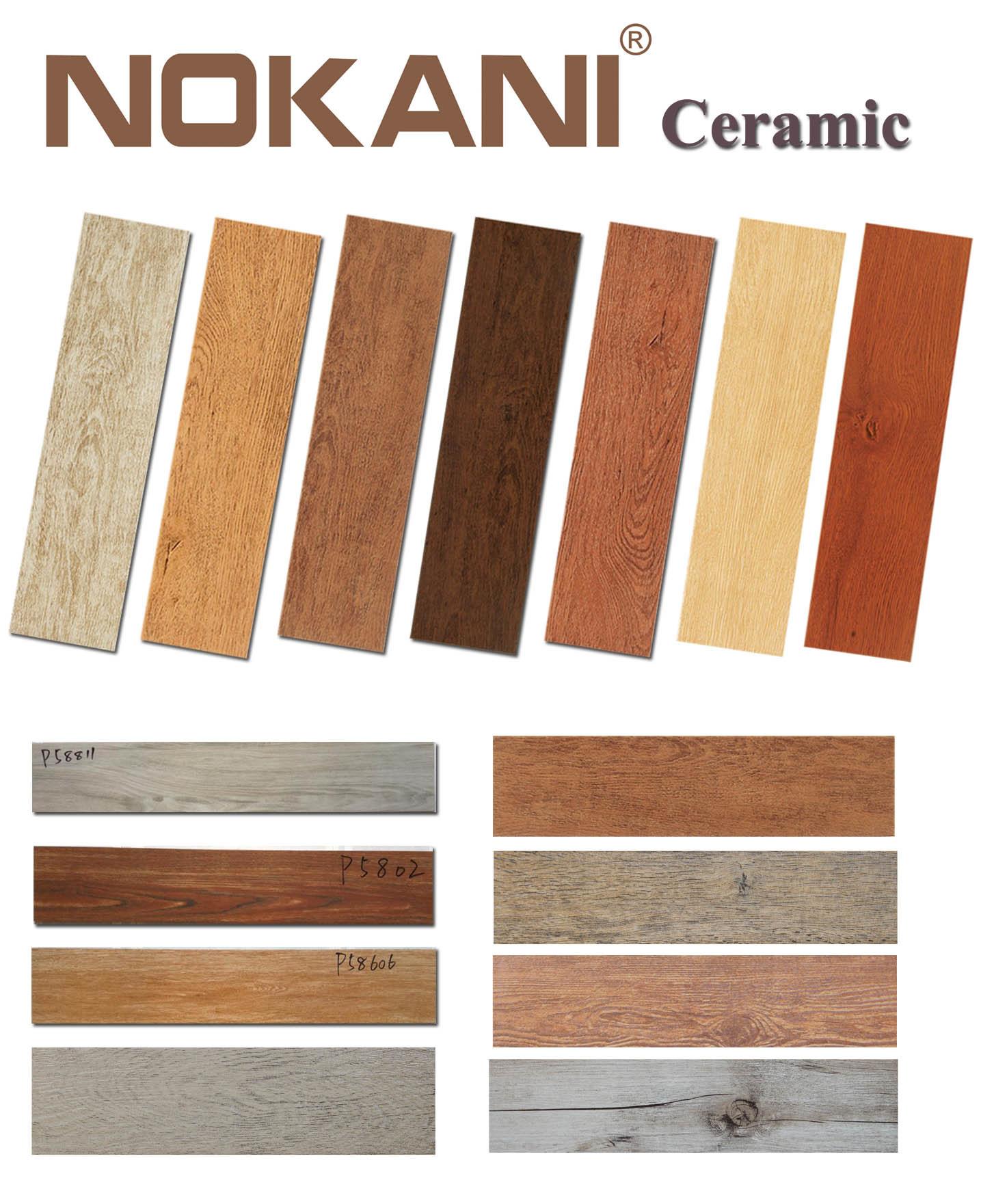 Telhas Polished da parede cerâmica de madeira das telhas da porcelana  #A24D29 1435x1761