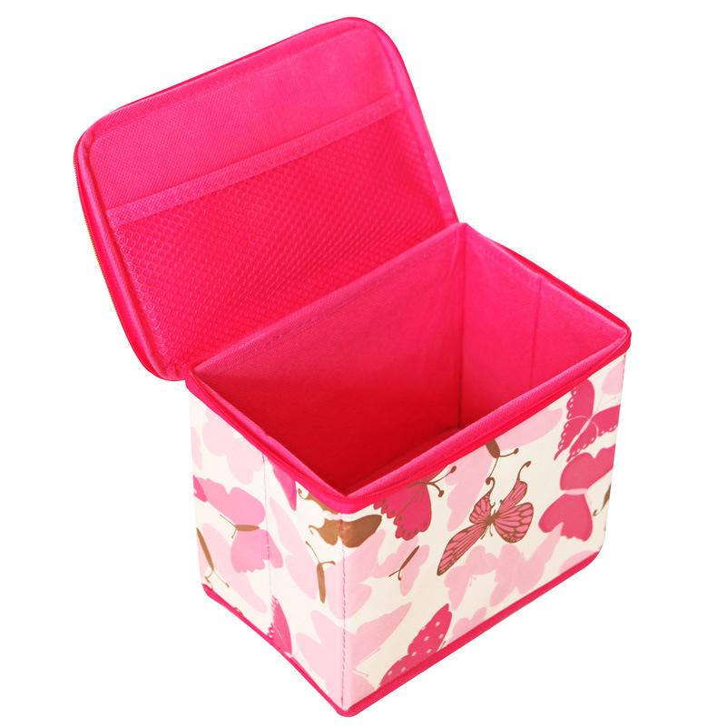 Cajas de almacenaje plegables del hogar de la tela con la - Cajas almacenaje ropa ...