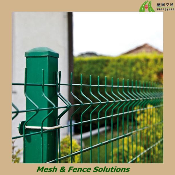 Cerca verde do PVC para o jardim, casa de campo, área residencial