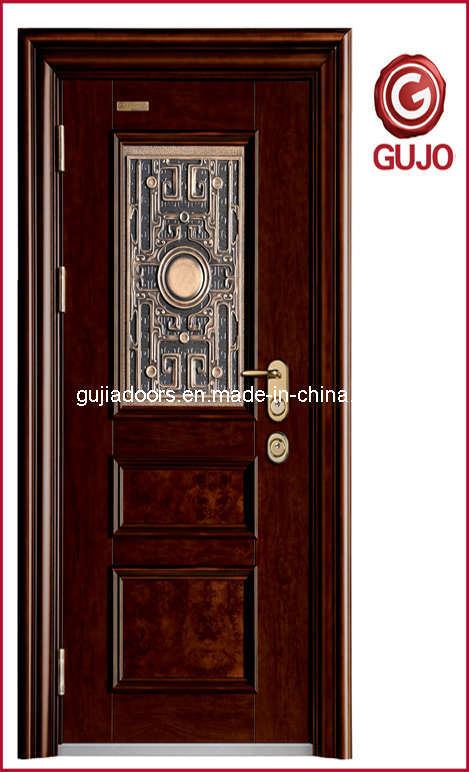Puertas de acero lujosas de la seguridad gj l003 - Modelos de puertas metalicas para casas ...