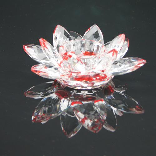 support de bougie en cristal de fleur de lotus support de. Black Bedroom Furniture Sets. Home Design Ideas