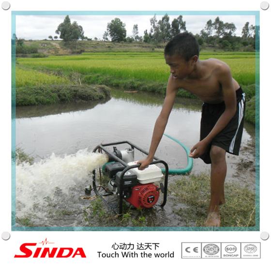 Bomba de agua de la gasolina 3inch f cil uso para riego for Bomba de agua para riego de jardin