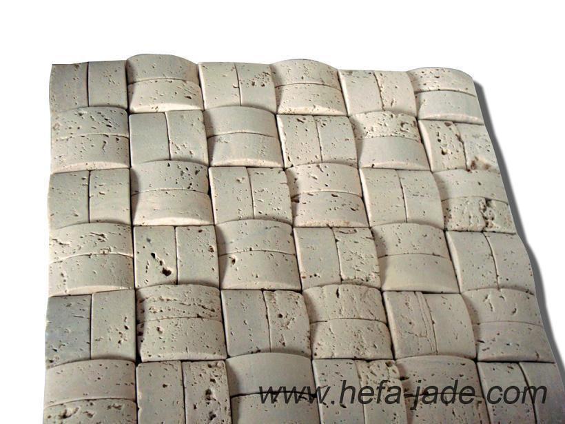 Mattonelle del mosaico/parete di travertino (xmd017t) – mattonelle ...