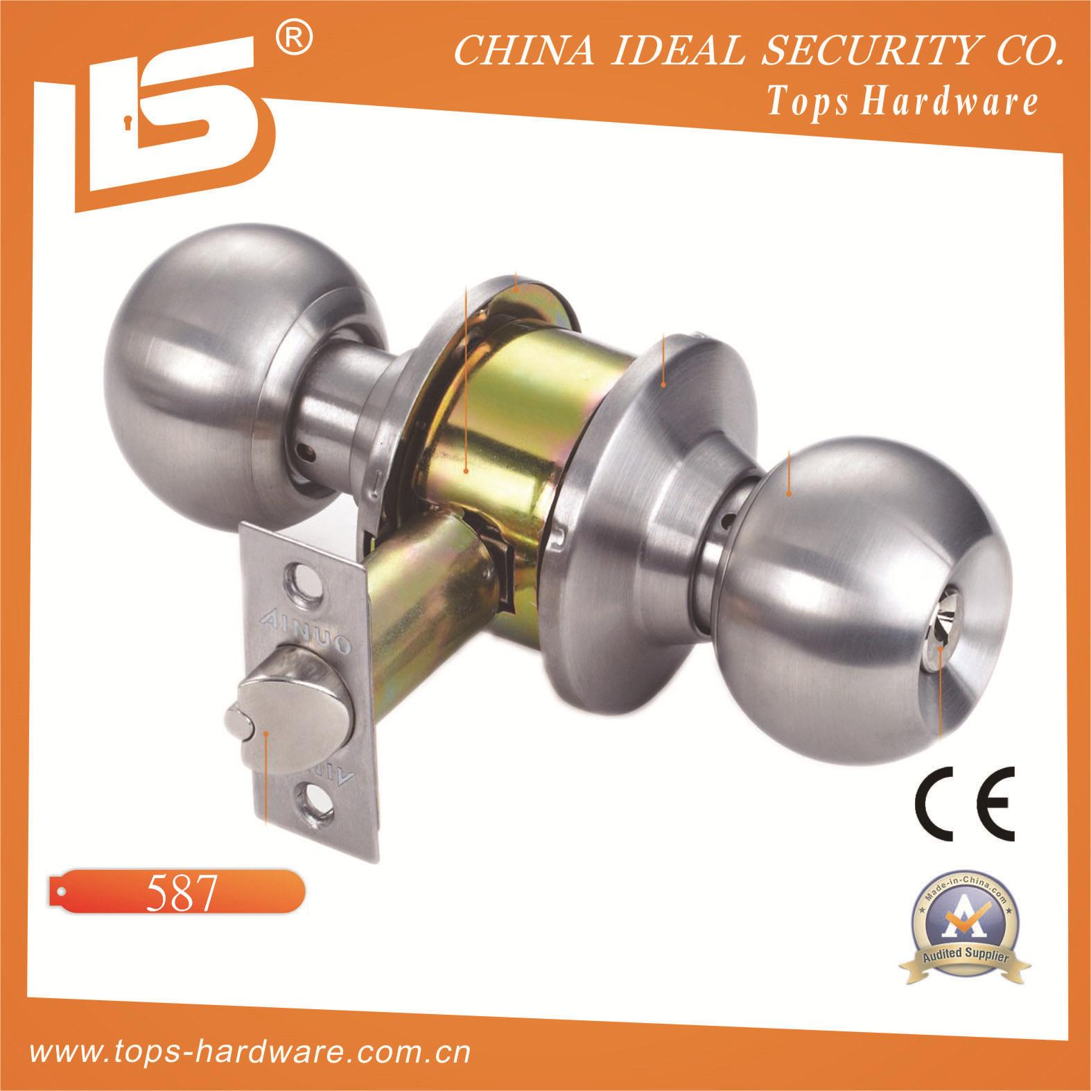 Cerradura clindrica tubular cerradura de pomo para la puerta 607 cerradura clindrica tubular - Cerraduras pomo para puertas ...