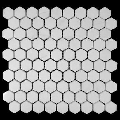 Conception hexagonale de marbre blanche orientale de tuile de mosaïque photo sur fr ...
