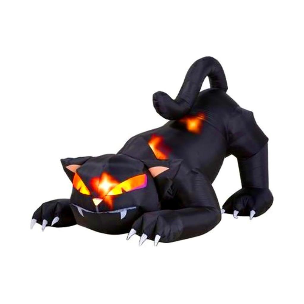 d coration gonflable de halloween de chat noir de veille de la toussaint d coration gonflable. Black Bedroom Furniture Sets. Home Design Ideas