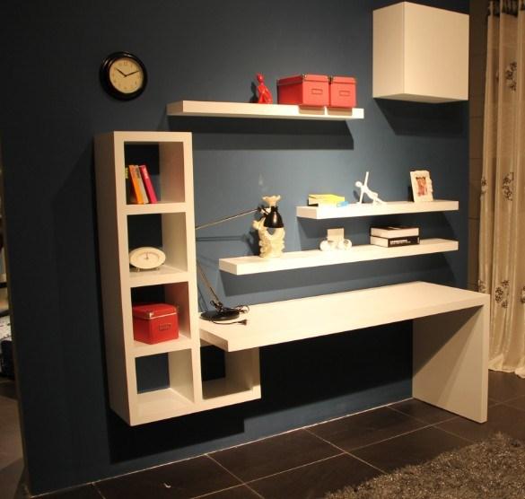 Escritorio de madera casero moderno lsz07 escritorio for Muebles escritorios modernos