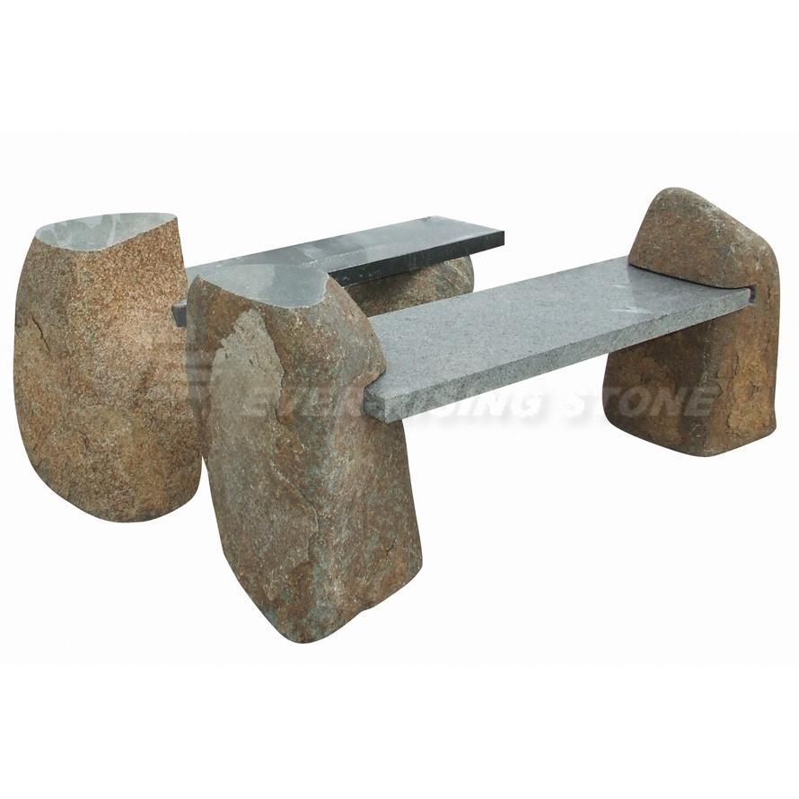 Foto de bancos de piedra naturales del granito en es made for Bancos de granito para jardin
