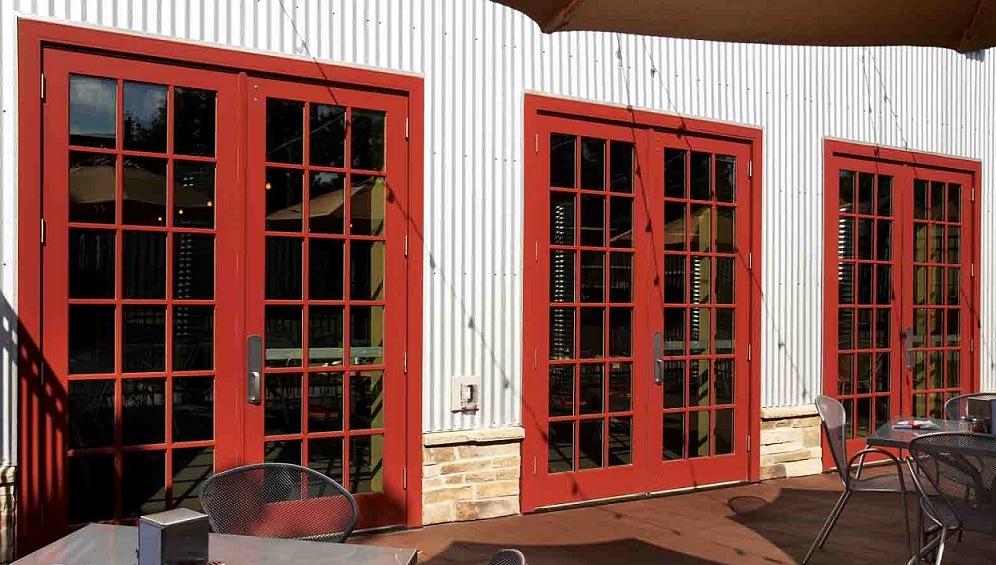 Puerta de cristal francesa de aluminio puerta de cristal for Precio de puertas francesas