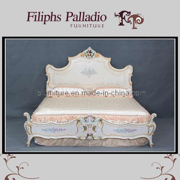 Europees de meubilair luxe van de slaapkamer van de stijl klassiek klassiek bed europees de - Meubilair van de ingang spiegel ...